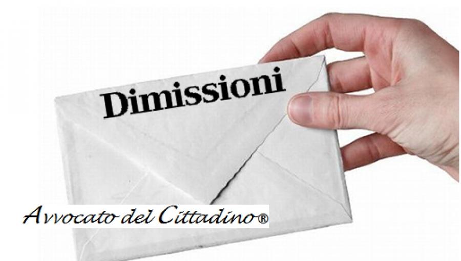 Avvocato Del Cittadino Dimissioni Per Giusta Causa Scarica La Lettera